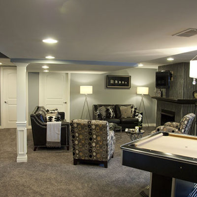 The homeowners want a man cave but not anything too masculine.
